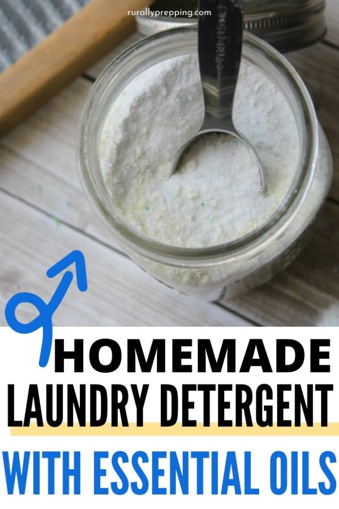 Homemade Laundry Detergent with