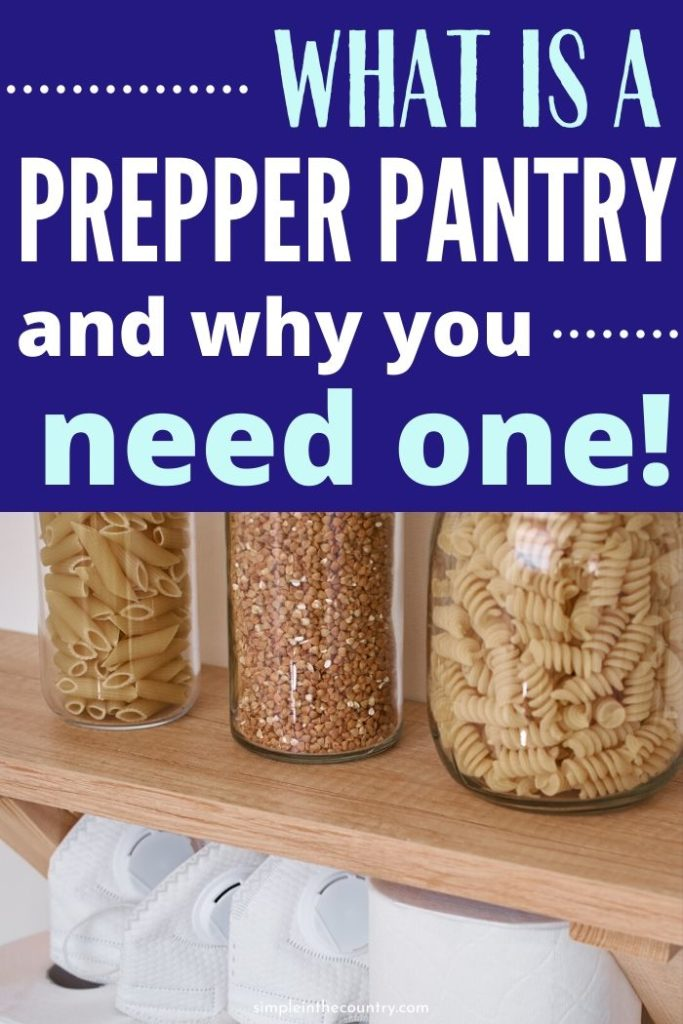 food stored in jars on a shelf with the words what is a prepper pamty and why you need one on the top